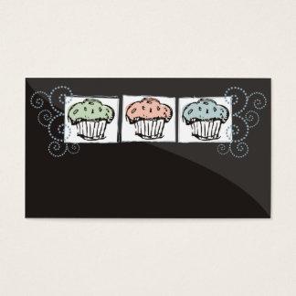 cupcakes doodles baker baking business card 2