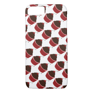 Cupcakes Fancy Red Frosting Cherry Sweet iPhone 8/7 Case