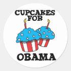 Cupcakes for Obama Classic Round Sticker