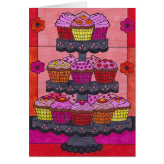Cupcakes for Valentine's Day Card