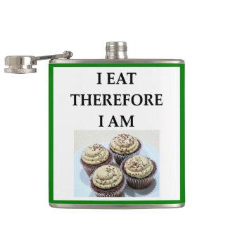 cupcakes hip flask