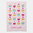 Cupcakes Kitchen Towels