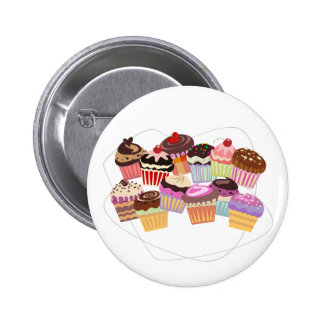 Cupcakes paradise 2 inch round button