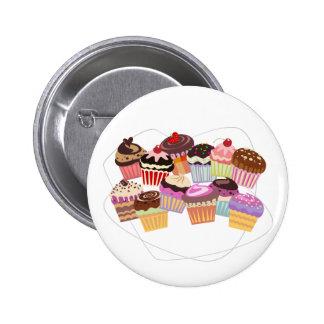Cupcakes paradise pinback button