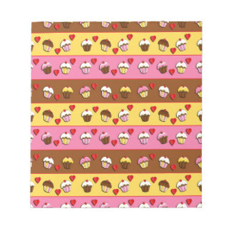 Cupcakes pattern notepads