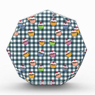 Cupcakes plaid pattern