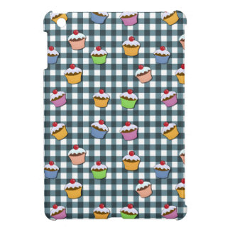Cupcakes plaid pattern iPad mini case
