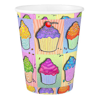 CUPCAKES POP ART PAPER CUP