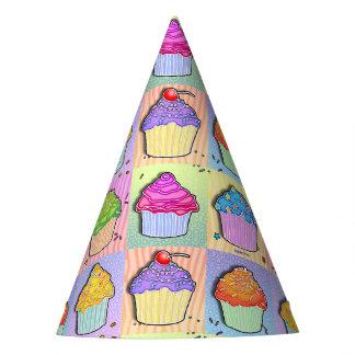 CUPCAKES POP ART PARTY HAT