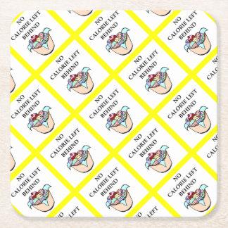 cupcakes square paper coaster