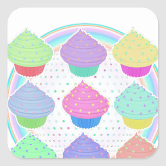 Cupcakes Square Sticker