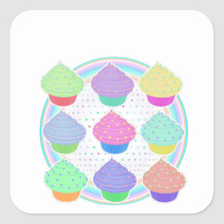 Cupcakes Square Sticker