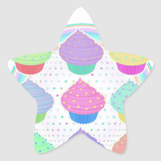 Cupcakes Star Sticker