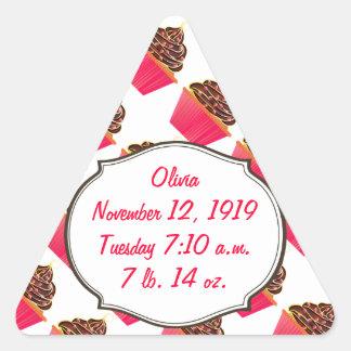 Cupcakes Triangle Sticker
