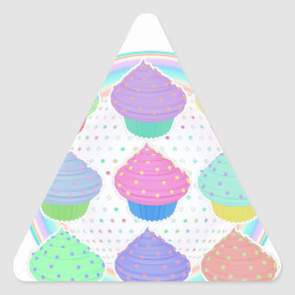 Cupcakes Triangle Sticker