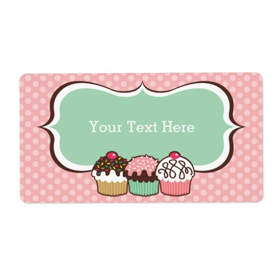 Cupcakes Trio Bookplates Labels