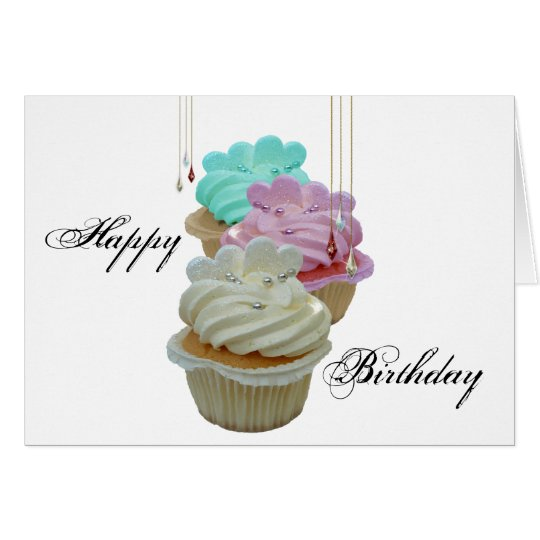 Cupcakes with Bling! Card