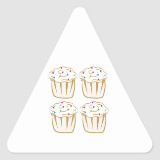 Cupcakes With Sprinkles Triangle Stickers