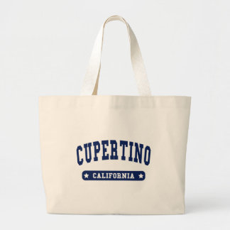 Cupertino California College Style tee shirts Large Tote Bag