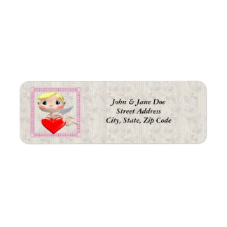 Cupid And Heart Return Address Label