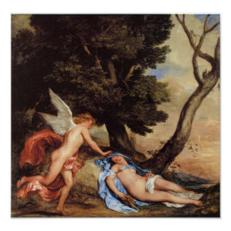 Cupid and Psyche, 1638-40 Poster