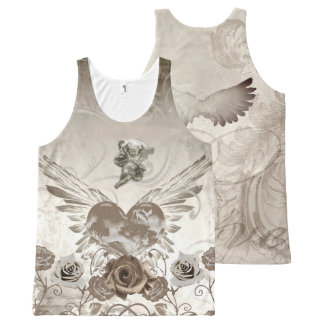Cupid and Winged Heart Valentines T-shirt
