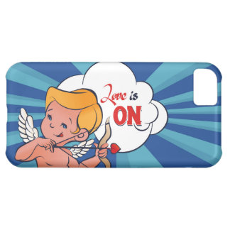 Cupid archer turn Love is On  Pop-Art Case For iPhone 5C