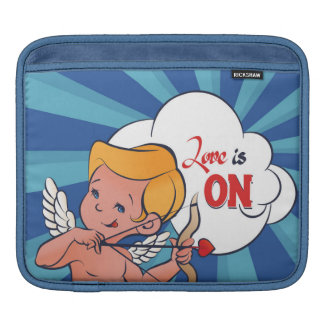 Cupid archer turn Love is On  Pop-Art iPad Sleeve