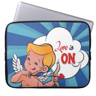Cupid archer turn Love is On  Pop-Art Laptop Sleeve