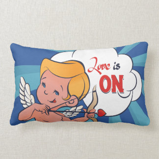 Cupid archer turn Love is On  Pop-Art Lumbar Pillow