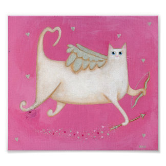 Cupid as a Cat Poster