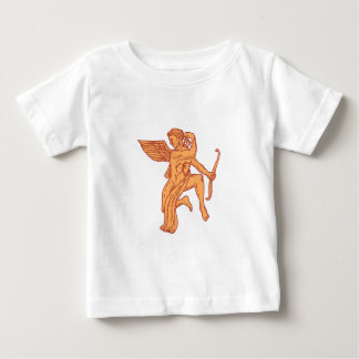 Cupid Bow Drawing Arrow Mono Line Baby T-Shirt