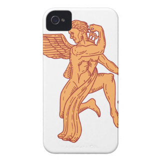 Cupid Bow Drawing Arrow Mono Line Case-Mate iPhone 4 Case