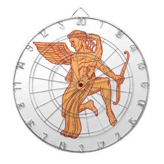 Cupid Bow Drawing Arrow Mono Line Dartboard