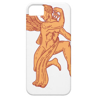 Cupid Bow Drawing Arrow Mono Line iPhone 5 Cases