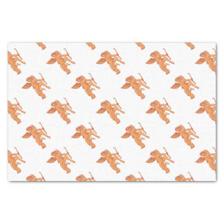Cupid Bow Drawing Arrow Mono Line Tissue Paper