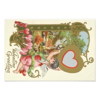 Cupid Cherub Angel Heart Cottage Art Photo