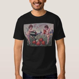 Cupid Cherub Angel Watering Heart Tee Shirts