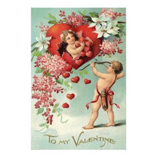 Cupid Cherub Bow Arrow Heart Floral Photo