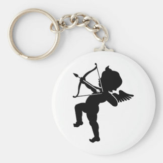 Cupid - Cupids Bow and Arrow of Love Basic Round Button Keychain