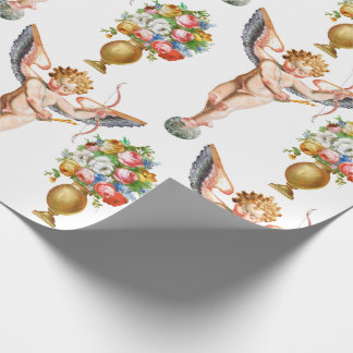 Cupid Floral wrapping paper