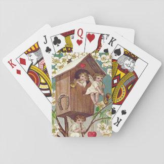 Cupid Flowers Birdhouse Heart Horseshoe Playing Cards