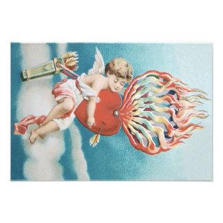 Cupid Heart Fire Kaleidoscope Photo Print
