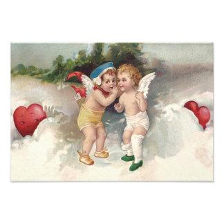 Cupid Heart Snow Cherub Angel Photograph