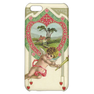 Cupid Heart Torch Cottage Rose iPhone 5C Cases