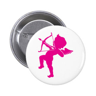 Cupid - Hot Pink Cupid's Bow and Arrow of Love 2 Inch Round Button