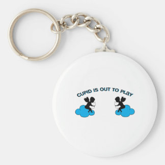 Cupid is Out to Play Keychain