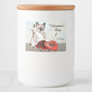 Cupid Kitten Food Container Labels