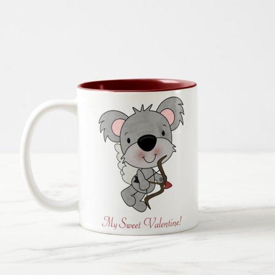 Cupid Koala Valentine Mug