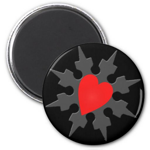 Cupid Ninja Heart Shuriken Magnet